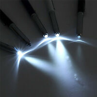 3 in 1 Touch Screen Stylus Ballpoint Pen With LED Flash Light For iPad Iphone@