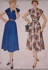 1953'S MCCALL'S #9640 WOMEN'S AND MISSES DRESS PATTERN-SZ 14-ONE PC DRESS