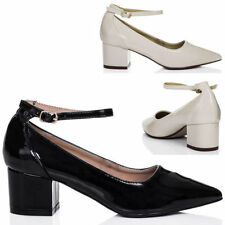 Unbranded Synthetic Leather Court Block Heels for Women