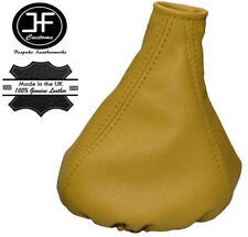 YELLOW REAL LEATHER MANUAL GEAR GAITER FITS FIAT PANDA 2013+