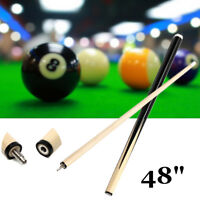 48'' 2-Piece Children Snooker Pool Cue Stick Wood Jointed For Billiards Sport