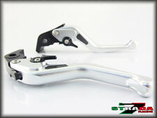 Strada 7 CNC Short Carbon Fiber Levers Honda GROM MSX 125 2013 - 2014 Silver