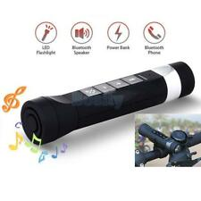 Multifunctional Bike Bluetooth Wireless Speaker FM MP3 Flashlight Power Bank