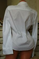 (R1) AUSTIN REED White 100% Cotton Semi Fitted Blouse Shirt Top Size 14 NEW