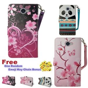 For Huawei Ascend XT 2 Magnetic Flip Cover Kickstand Slot Wallet PU Leather Case