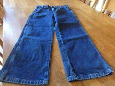 """Nwt! """"Wrangler"""" Boy'S Denim Carpenter Jeans Size 10 Husky W/Adj. Waist"""