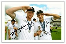 JOE ROOT & BEN STOKES ENGLAND  CRICKET AUTOGRAPH SIGNED PHOTO