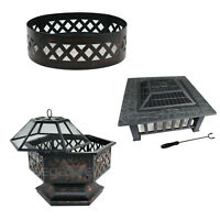 Hex Shaped/Square/Round Yard Outdoor Black Portable Steel Fire Pit (Three Shape)