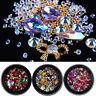 3D Mixed Style AB Shiny Rhinestones Glass Crystal Metal Gems DIY Nail Art Decor