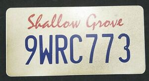 Scream TV Show Genuine Prod Screen Used Prop Licence Number Plate Shallow Grove