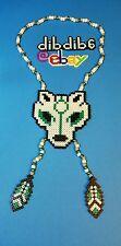Wolf kandi perler necklace, Okami, rave, PLUR, EDC, art, design