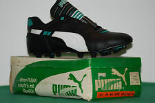 vintage puma boots scarpini SOCCER CAT 80s leather west Germany NOS maradona