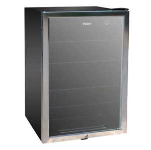 Haier 150-Can Beverage Cooler HEBF100BXS