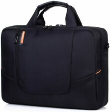 """Rawboe laptop bag 13.3-15.6-17.9"""" black computer case padded w/shoulder strap"""