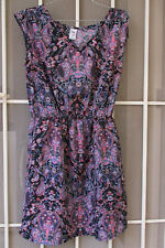 SUMMER DRESS Sz 10 Black Pink Purple Ladies dresses casual smart