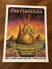 Foo Fighters Emek 9/14/2015 Portland Oregon Moda Center Poster Signed & Numbered