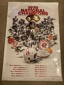 Nebraska Cornhuskers 1970 National Champions Commemorative Poster **RARE**