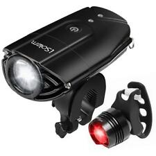 Bicycle Headlight Bike Front Light Usb Rechargeable Double Led Bike Accessory