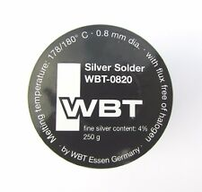 Silver solder WBT0820 4% silver 250g premium grade audio solder from WBT Germany