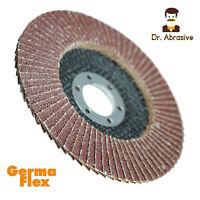 """125mm 5"""" 115mm 4.5"""" FLAP DISCS Germa Flex SANDING DISC Grit 24-120 Angle Grinder"""