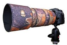 Nikon 80 400 Mm Af-s Ed Vr Neopreno Lente protección Abrigo cubierta Roble Inglés