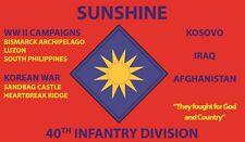 40TH INFANTRY DIVISION  3'X5' 2PL POLYESTER 1-SIDED INDOOR 4 GROMMET FLAG