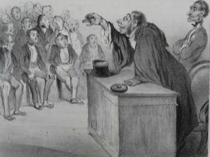 Macaire Professor Industrie - Lithographie Daumier Aubert - Satire Humor - 1839