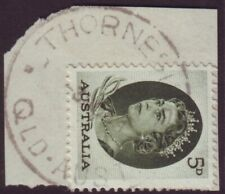 """QUEENSLAND  POSTMARK """"THORNDALE"""" ON 5d QEII DATED 1964 (A10730)"""