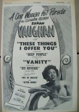 Sarah Vaughan 1951 Ad- These Things I Offer You/Deep Purple Columbia