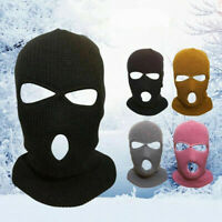 Unisex Full Face Balaclava Hat Ski Face Cover Outdoor Beanie Solid 17Colors