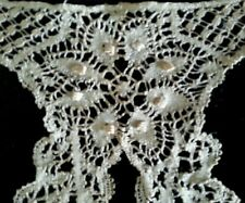 Antique Silk  Cluny Lace Collar Remnant Sample Ecru Victorian Edwardian