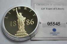 125 YEARS OF LIBERTY STATUE COMMEMORATIVE PROOF COIN COA