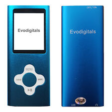 NEW 16GB BLUE ELITE MP3 MEDIA MP4 PLAYER MUSIC VIDEO FM TUNER GAMES VOICE RECORD