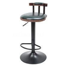 Adjustable Retro Metal Craft Bar Stool Furniture Swivel Cafe Counter Chair 250lb Blackish Green