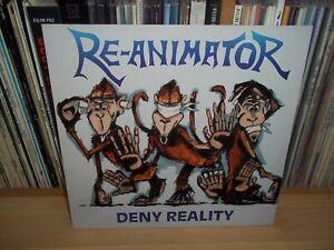 RE-ANIMATOR Deny Reality UK 88 UNDER ONE FLAG 1st Press w/INNER Thrash METAL LP