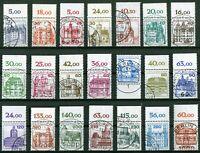 Berlin Burgen und Schlösser komplett Oberrand gestempelt tw. Vollstempel 677,676