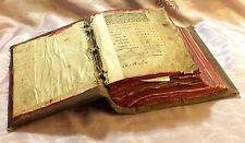 RARE C. 1650 RUSSIAN ORTHODOX CHURCH HOLY PRAYER BOOK ~BEAUTIFUL ANTIQUE TEXT~