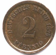 1875-D GERMANY 2 PFENNIG * XF+ * NICE * CHOICE LOOKING !!
