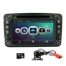 "7"" Car DVD Player GPS Navigation Stereo Radio BT +Camera For BENZ W203 C200 W210"