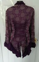 Hearts & Roses H&R 14 Purple Brocade Steampunk Coat Jacket Victorian Gothic