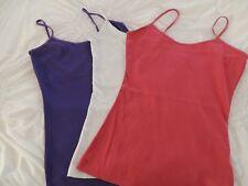 eea06ec12dc285 New listingwomens new look vest tops x 3 white pink purple size small