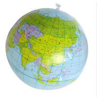 Stylish inflatable globe education geography toy map balloon beach ball FT