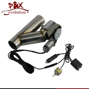 """2"""" Electric Exhaust Catback / Downpipe Cutout Valve System W/ Switch Control Kit"""
