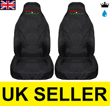 FIAT 500 Gucci - PREMIUM CAR SEAT COVERS PROTECTORS 100% WATERPROOF / BLACK