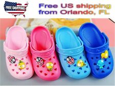 Girls Boys Garden Clogs with Back Strap Slip On Water Shoes Light Weight & charm