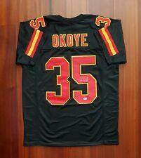 Christian Okoye Autographed Signed Jersey Kansas City Chiefs JSA