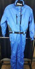Vintage Obermeyer One Piece Women's Snow Winter Ski Blue Belted Suit Size 14