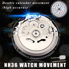 NH36 Japan Mechanical Watch Day Date Movement High Accuracy Automatic Wristwatch