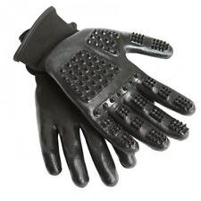 Hands on Grooming Mitt - Black Pair Massage Washing Gloves Medium
