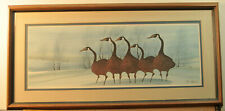 "P Buckley Moss ""Twilight Geese"" Framed Limited Edition Print Issued 1986 Rare"